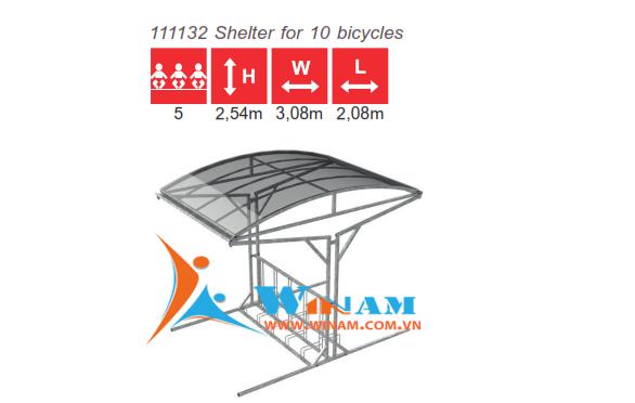 Nội thất ngoài trời - WinWorx- 111132 Shelter for 10 bicycles