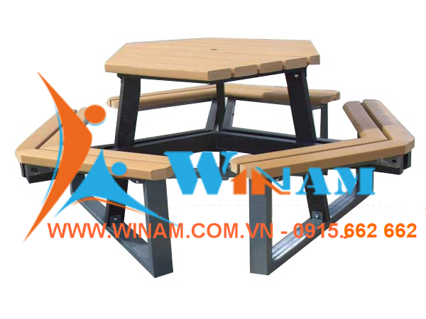 WinWorx - WATB12 Recycled plastic wood picnic table