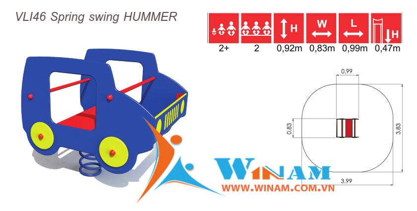 Thú nhún - Winplay - VLI46 Spring swing HUMMER