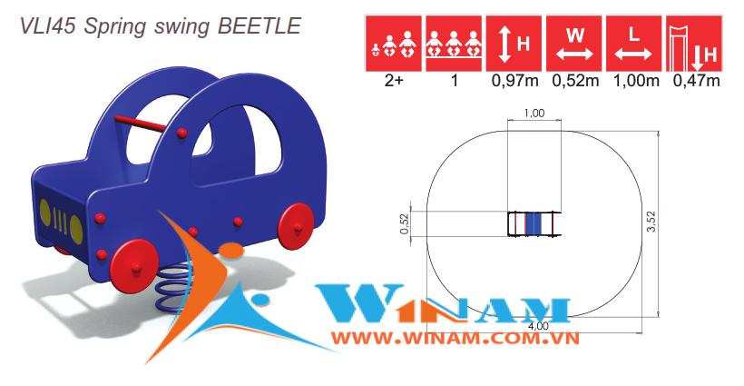 Thú nhún - Winplay - VLI45 Spring swing BEETLE